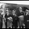 Arrival of officials at Western Air Express, Southern California, 1929