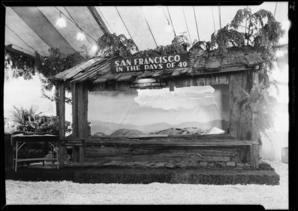 San Francisco booth, Southern California, 1930