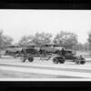 Trailers loaded with Fords, Southern California, 1930