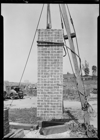 Wall sections, Simons Brick Co., Southern California, 1931