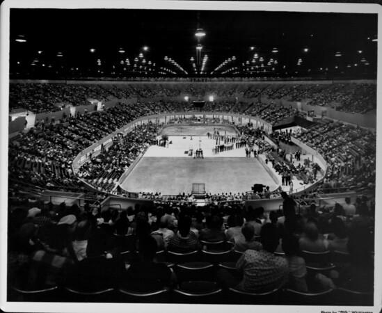 Los Angeles Memorial Sports Arena, Memorial Day dedication ceremony