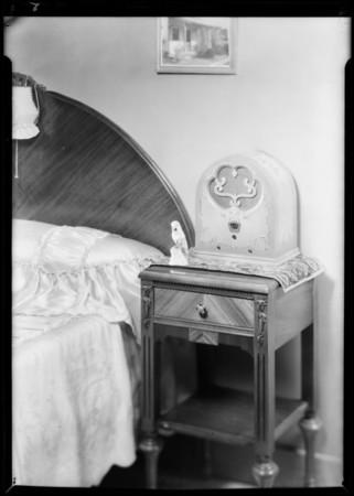 Radio (dwarf model) studio shots, Southern California, 1931