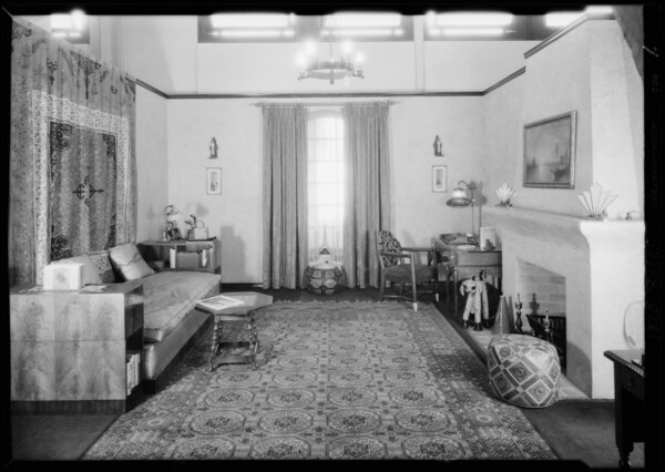 Model bungalow interiors, Southern California, 1929