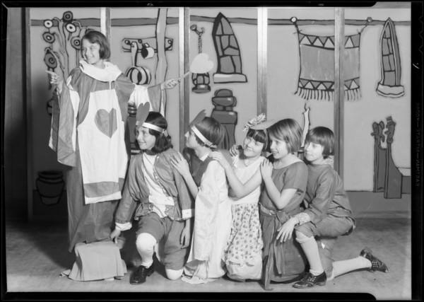 Valentine players, Yosemite playground, Southern California, 1931
