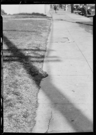 Sprinkler head, lawn of Dannell's laundry, Southern California, 1931