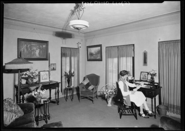 Eastman Apartments (interior & exterior), Southern California, 1926