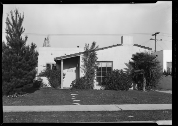 House at 4176 Sutro Avenue, Los Angeles, CA, 1931