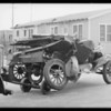 Ford coupe wreck, Southern California, 1929