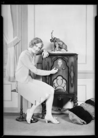 Marilyn Morgan & Falck radio, Southern California, 1929