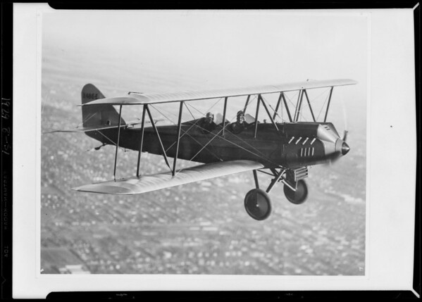 Airplane, Commonwealth Securities Corporation, Southern California, 1929