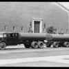 Green tank truck & trailer, Brockway Southwest Truck Co., Southern California, 1931