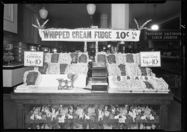 Woolworth's window and display counter, 7th Street and Broadway, Los Angeles, CA, 1931