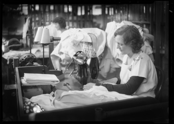 Scenes in laundry, Home Service Corporation, Southern California, 1931