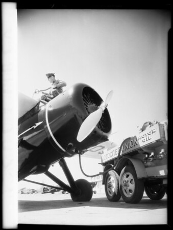 Tank truck, Grand Central Airport, Glendale, CA, 1931