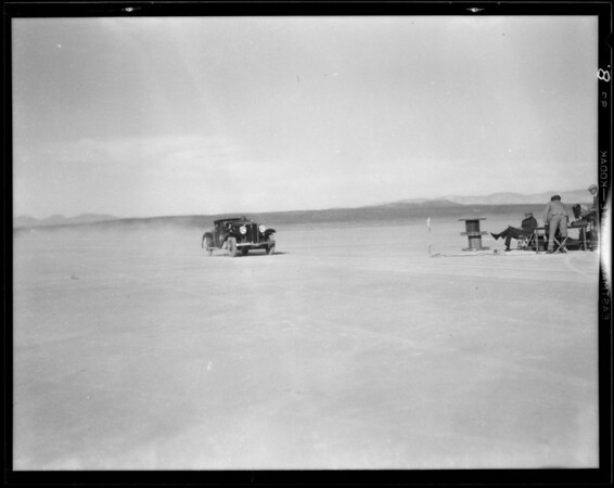 Studebaker racing on Muroc Dry Lake, Southern California, 1931