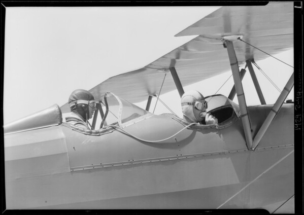Shots of planes at Mines Field [Los Angeles International Airport], Los Angeles, CA, 1929