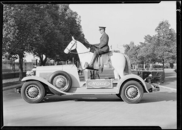 Advertising car - horse, Cadillac, Southern California, 1930
