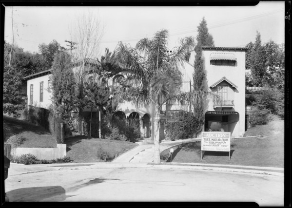 House at 2255 Cheswick Lane (auction), Southern California, 1930