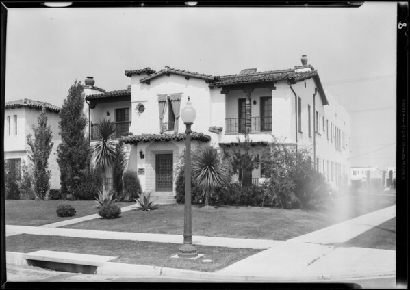 Properties about town owned by Hugh Evans Co., Southern California, 1931