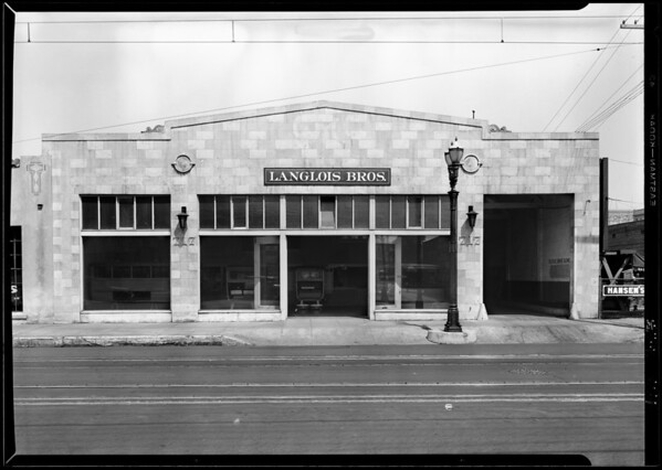 Exterior of building, 717 South San Pedro Street, Los Angeles, CA, 1929