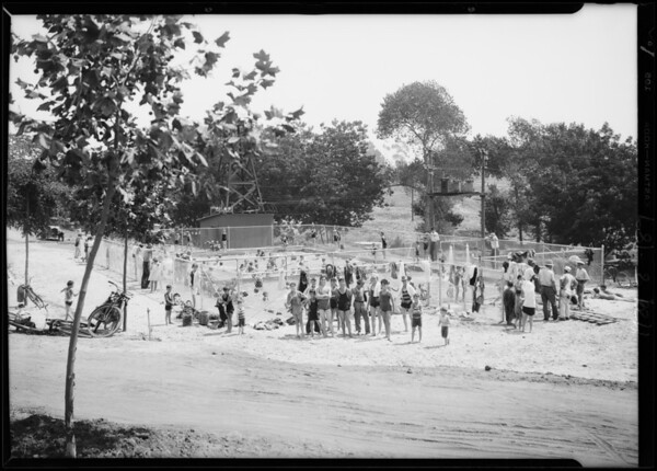 New plunge in Centinela Park, Inglewood, CA, 1929