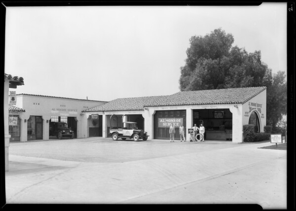 Al Monroe station in North Hollywood, Lankershim Boulevard & Victory Boulevard, Los Angeles, CA, 1930