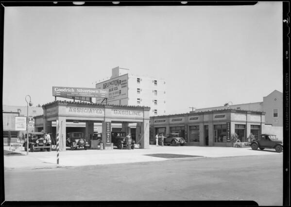 Service station at 4th Avenue & West Washington Boulevard, Los Angeles, CA, 1930