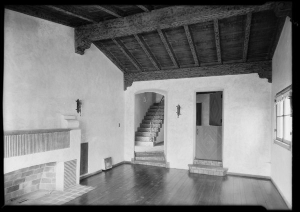 Interior of McComb house in Leimert Park, Los Angeles, CA, 1929