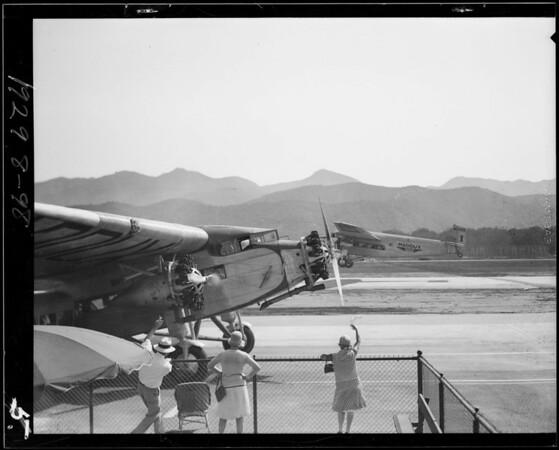 Odd shot around loading platform, Southern California, 1929