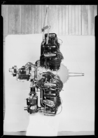 New motor, Axelson Machine Works, Southern California, 1929