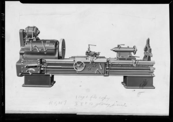 "24"" gear head lathe, Southern California, 1929"