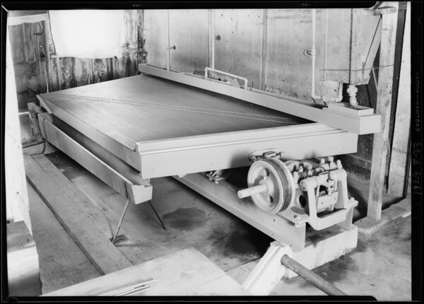 Mining table, Tracy Mining & Engineering Co., Southern California, 1929