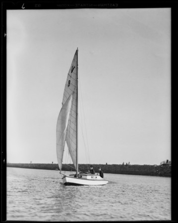 Boating at Cabrillo Beach, Los Angeles, CA, 1931