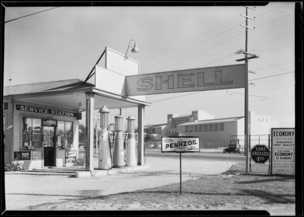 Station at Exposition Boulevard and South Vermont Avenue, Los Angeles, CA, 1930