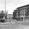 Main Street, at intersection with Spring Street, Roosevelt Theatre, Hotel Chandler, cleaners