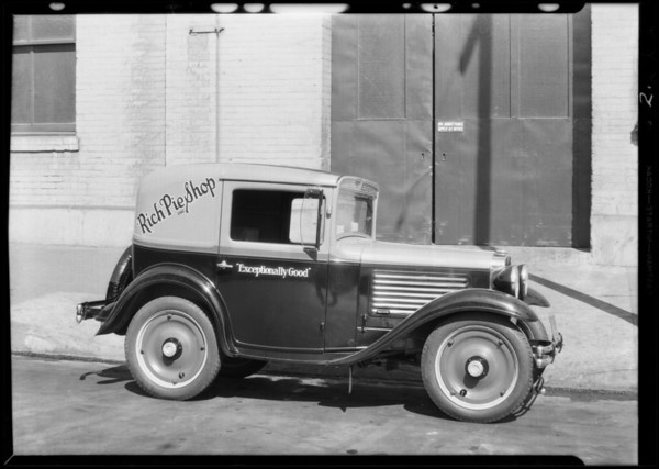Rich Pie Co.'s Austin Car, Southern California, 1930