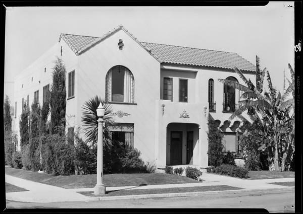 Apartment house, 803 1/2 North Hayworth Avenue, Los Angeles, CA, 1931