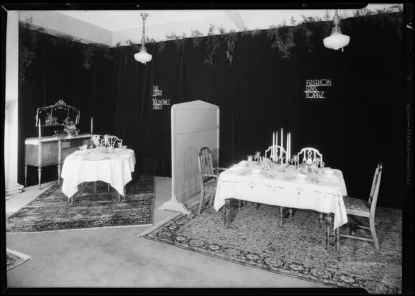 Table settings, Broadway Department Store, Los Angeles, CA, 1931