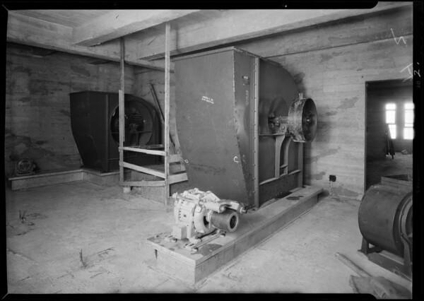 County Hospital, construction, interiors, Los Angeles, CA, 1931