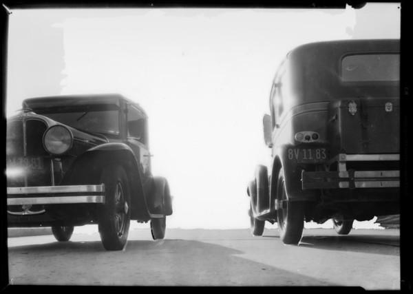 Traffic on Wilshire Boulevard, Southern California, 1931