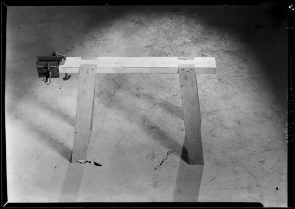 Small carpenter's vice, Southern California, 1929