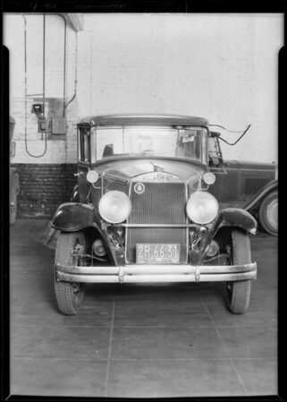 Graham-Paige car owned by Mr. Vas, 3110 South Main Street, Los Angeles, CA, 1929
