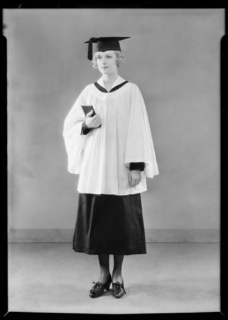 Choir costumes, etc., Southern California, 1931