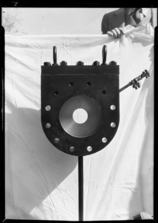 Gas odorizer & gas flow measuring device, Southern California, 1931