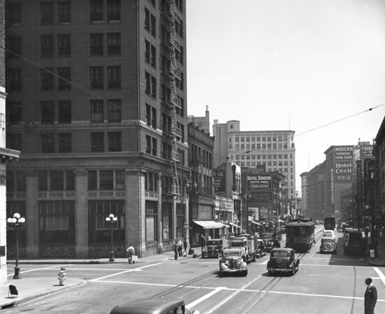 Main Street looking north at Eighth Street, D.R. Wong & Company
