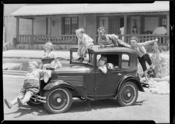 Car & 'Our Gang', Southern California, 1930