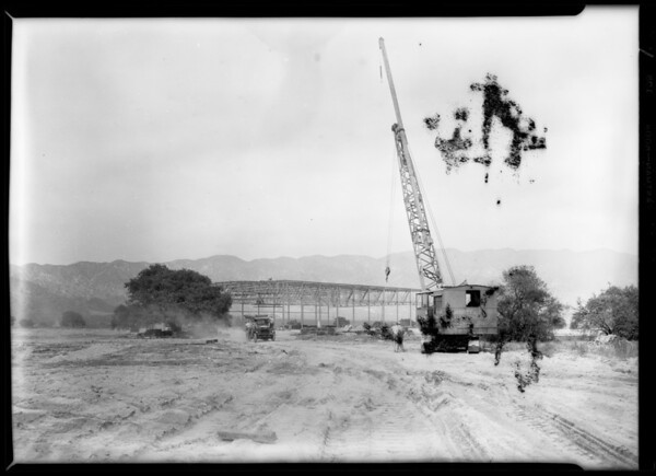"""Airport shots, """"Boeing plant & plane"""", Southern California, 1929"""