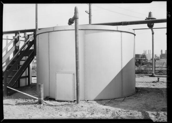 Tanks at Santa Fe Springs, CA, 1929