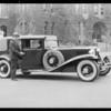 Mr. Alvin Frank & his Cord car, Southern California, 1930