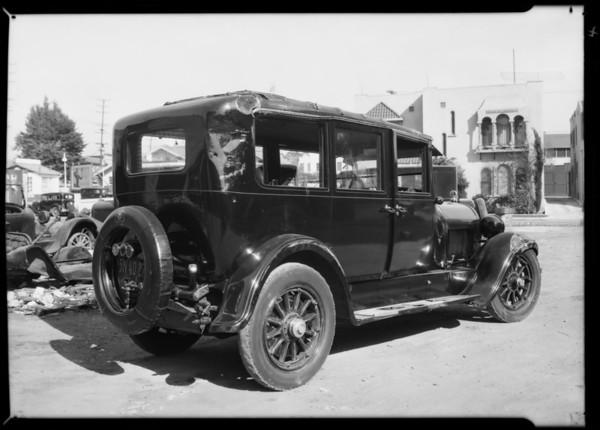 Cadillac sedan, Sam Hall, owner, Los Angeles, CA, 1931